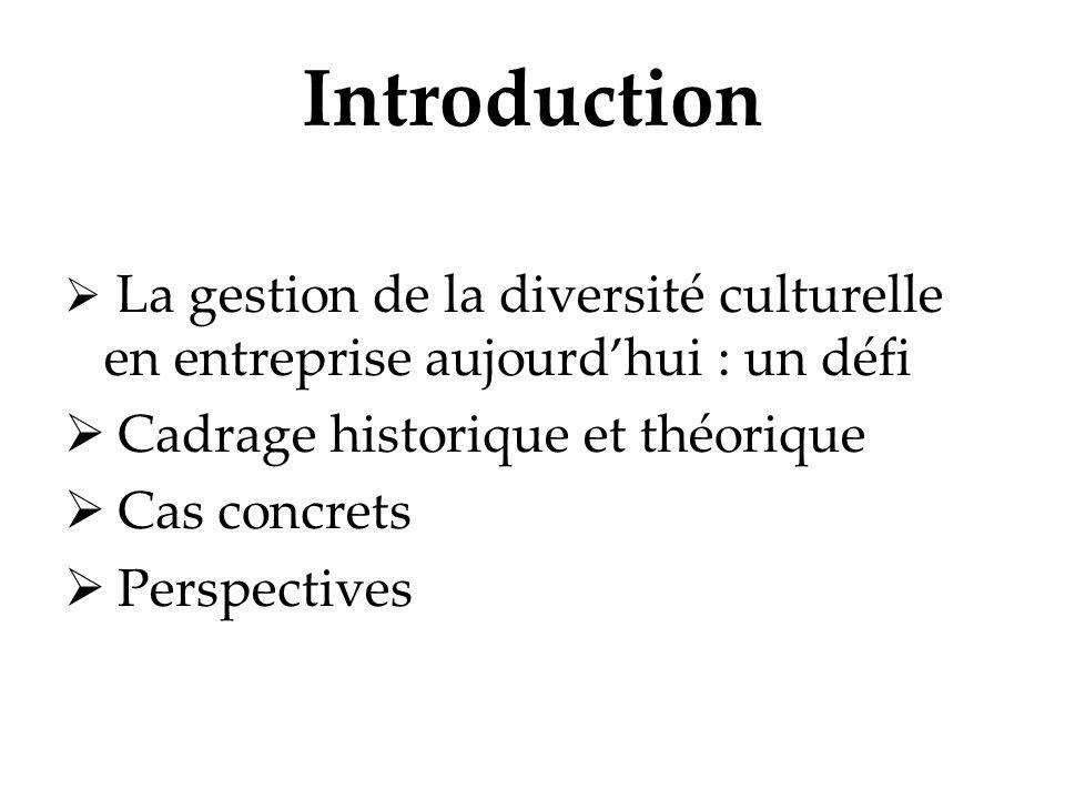 Introduction Cadrage historique et théorique Cas concrets Perspectives