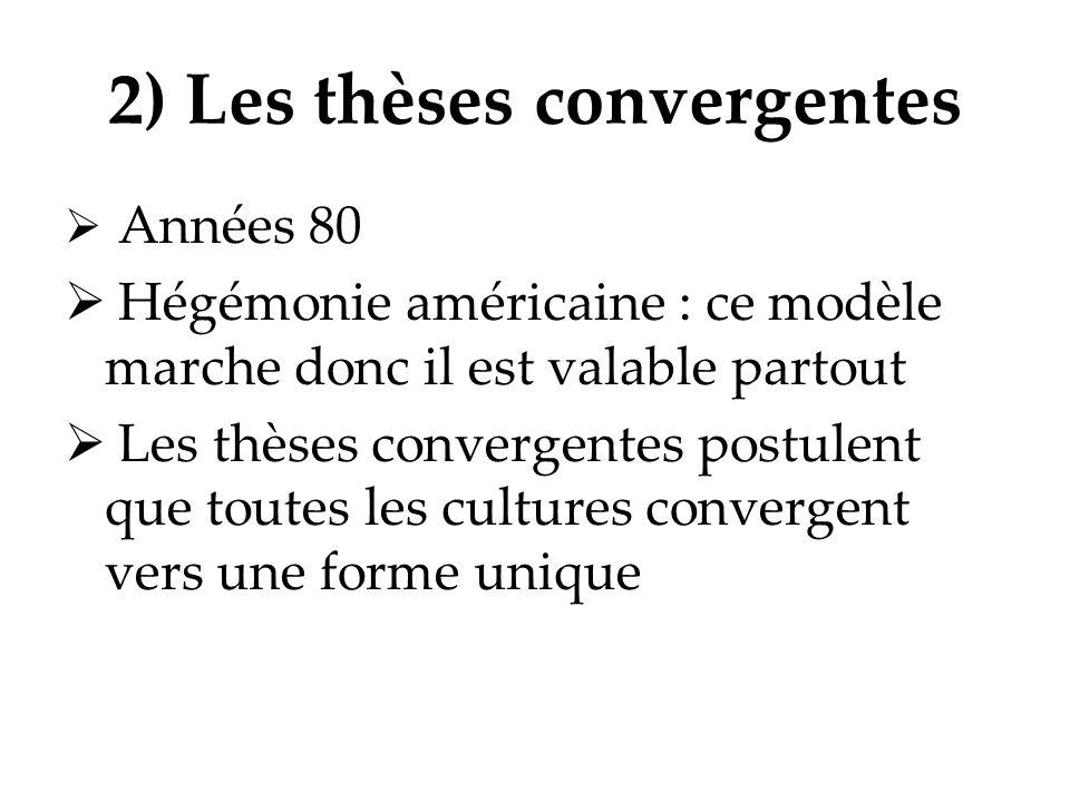 2) Les thèses convergentes