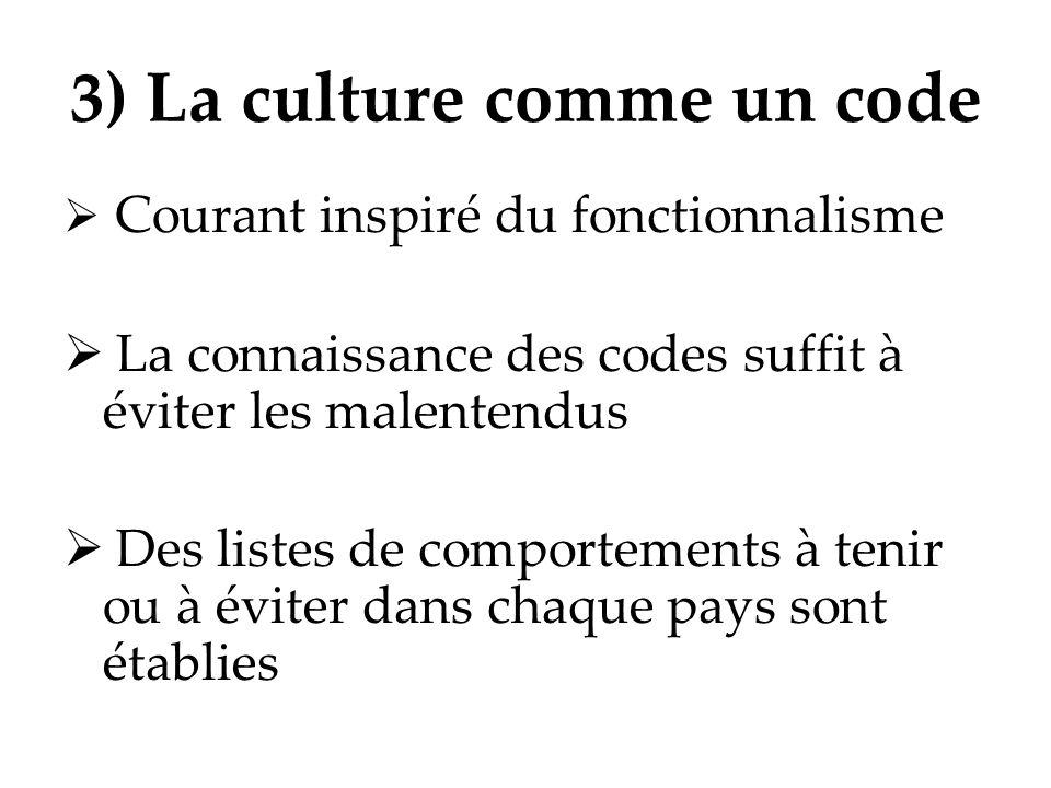 3) La culture comme un code