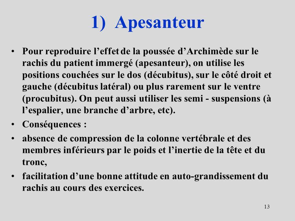 1) Apesanteur