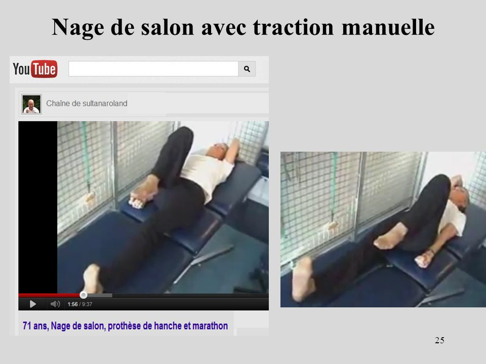 Nage de salon avec traction manuelle
