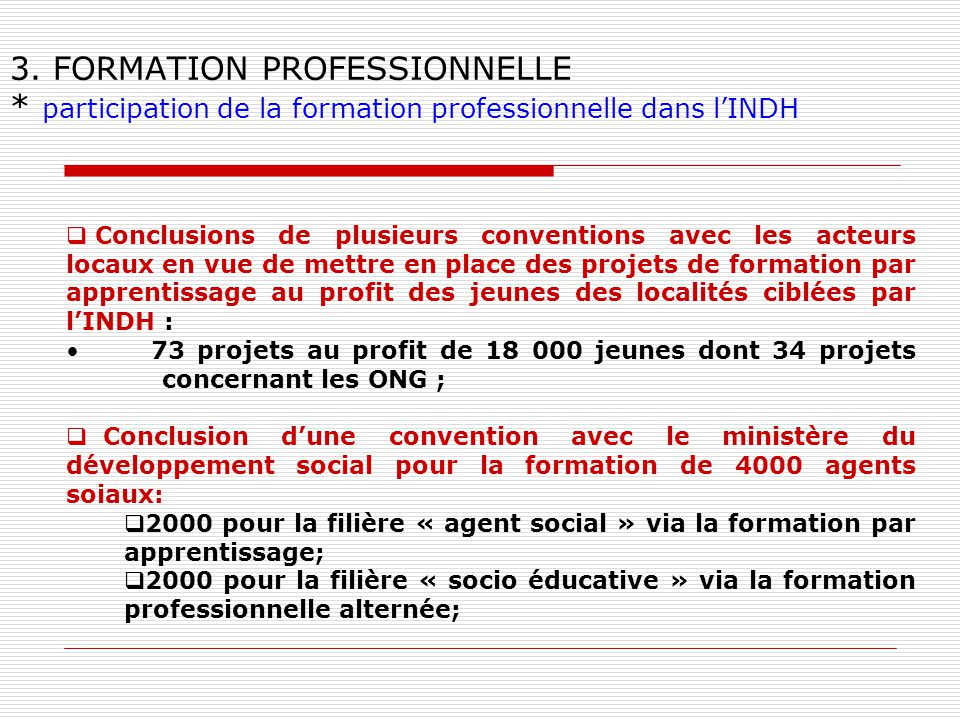 3. FORMATION PROFESSIONNELLE