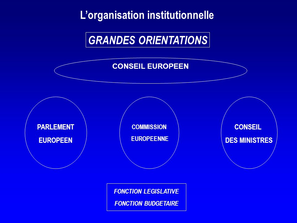 L'organisation institutionnelle