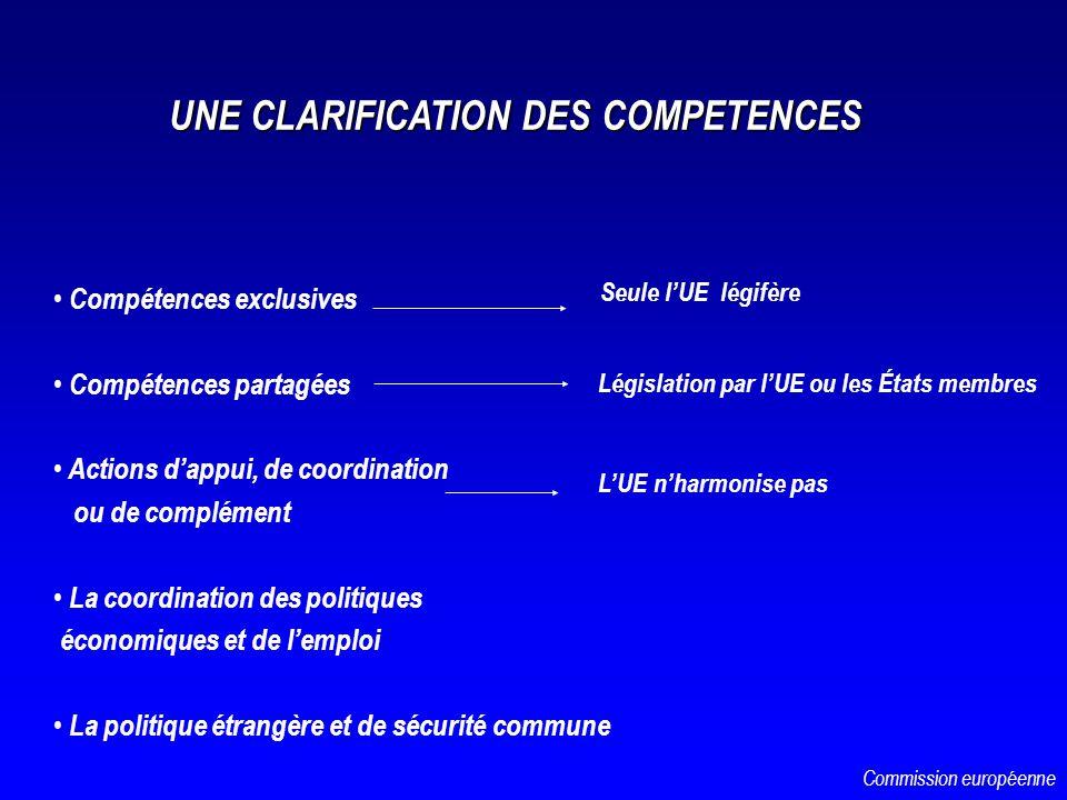 UNE CLARIFICATION DES COMPETENCES