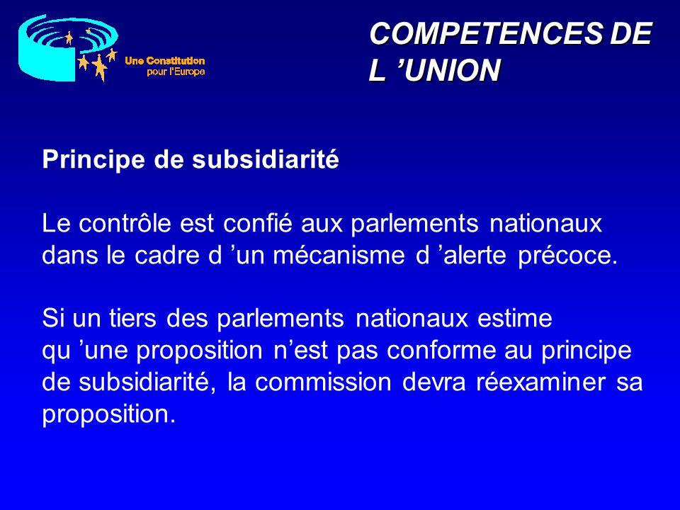 COMPETENCES DE L 'UNION