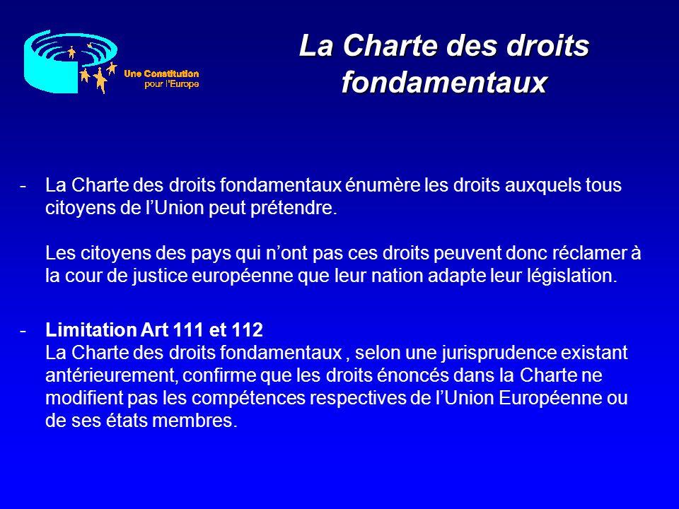 La Charte des droits fondamentaux