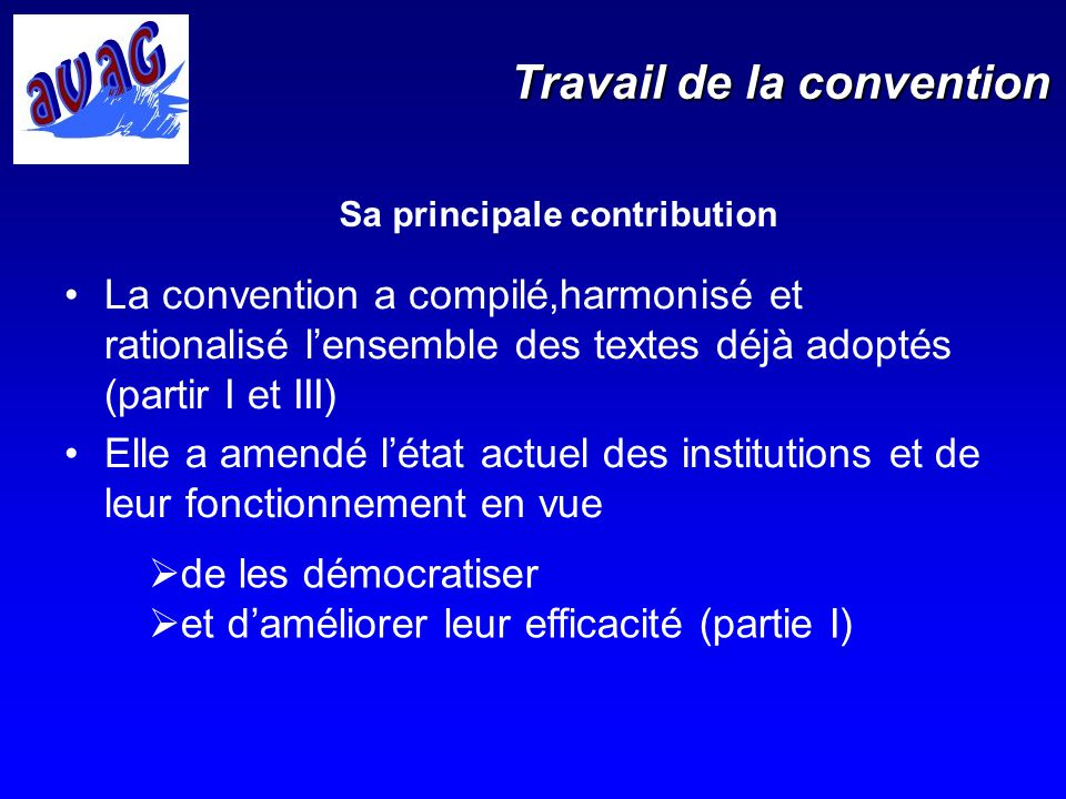 Travail de la convention