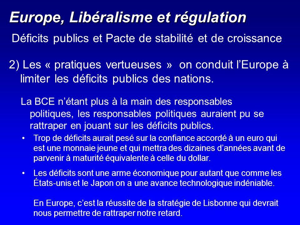 Europe, Libéralisme et régulation