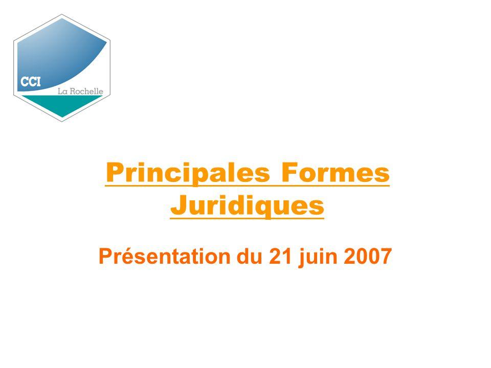 Principales Formes Juridiques