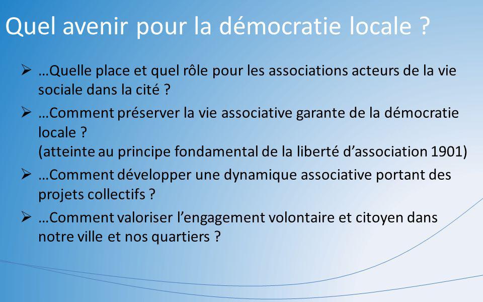 Quel avenir pour la démocratie locale