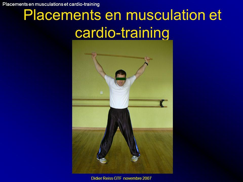 Placements en musculation et cardio-training