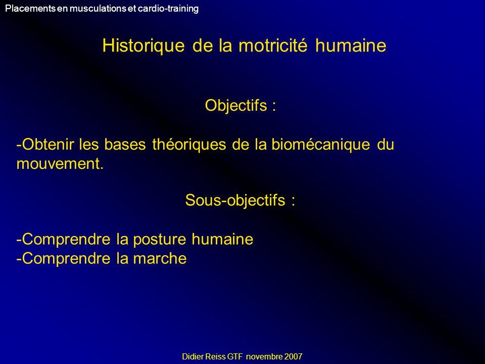 Historique de la motricité humaine