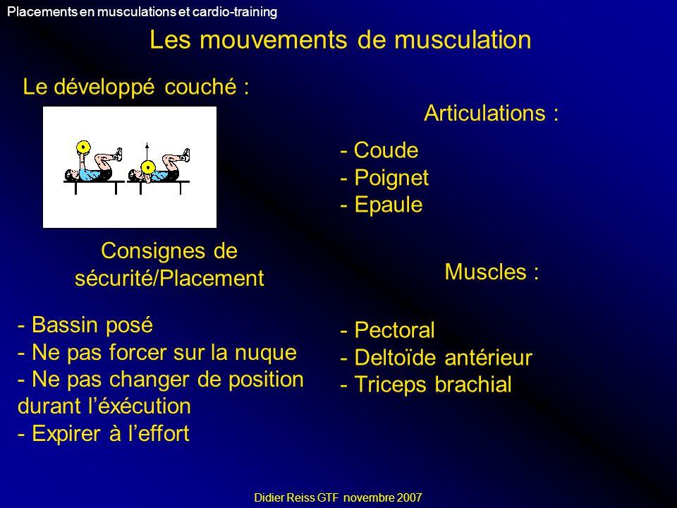 Les mouvements de musculation