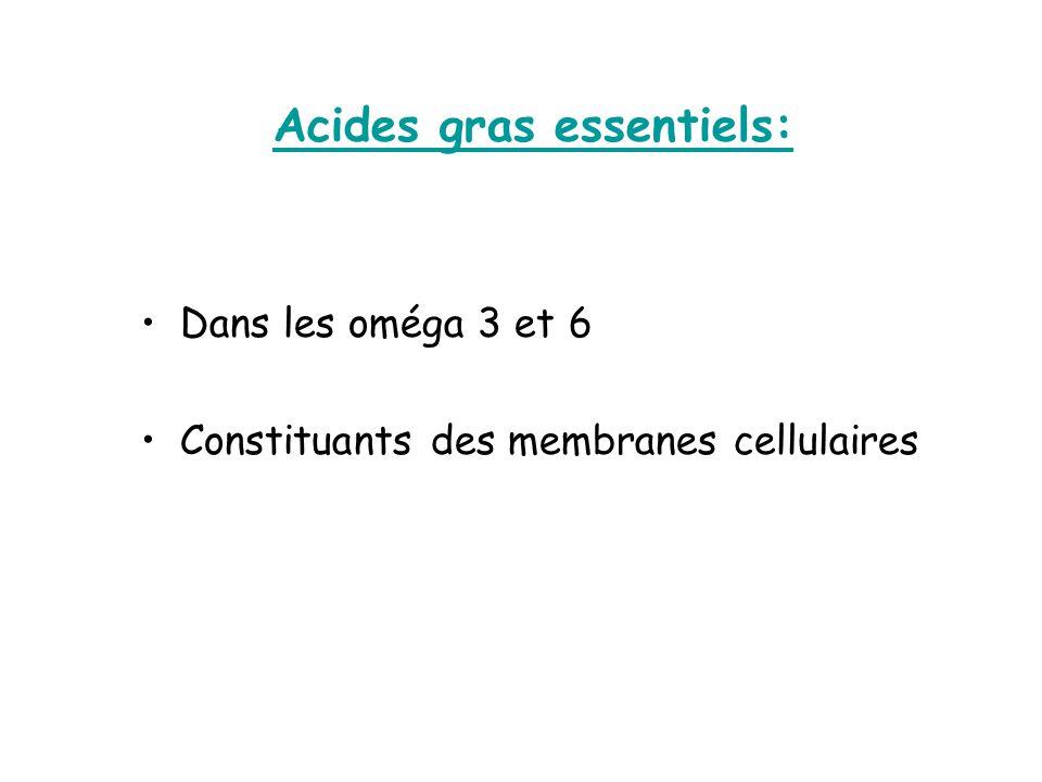 Acides gras essentiels: