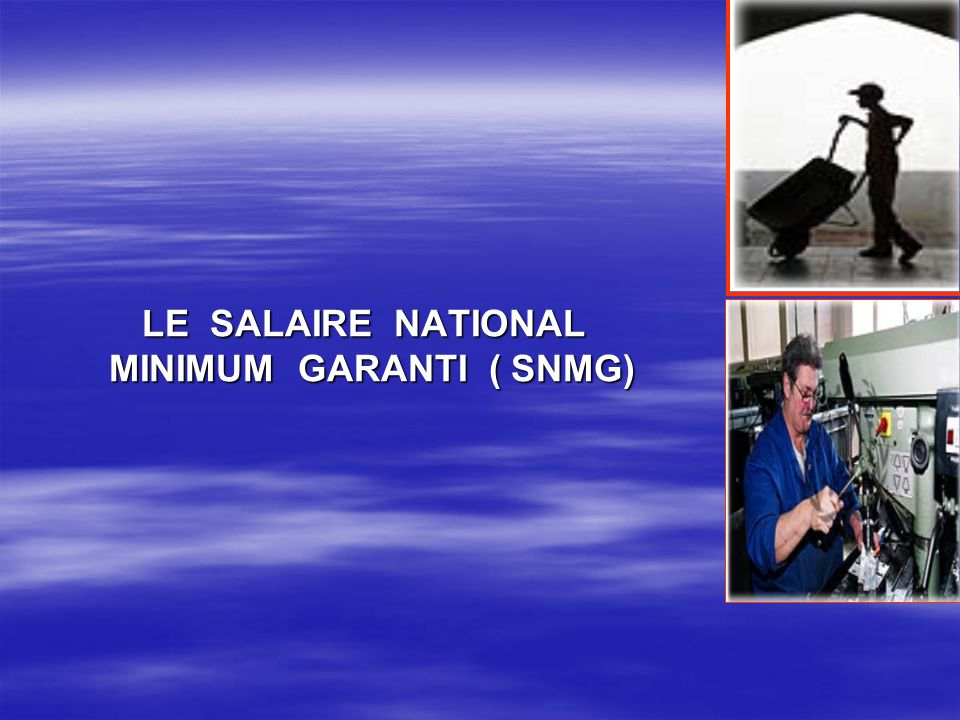 LE SALAIRE NATIONAL MINIMUM GARANTI ( SNMG)