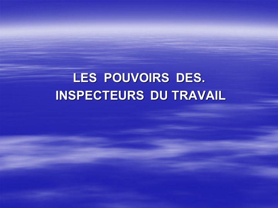 INSPECTEURS DU TRAVAIL