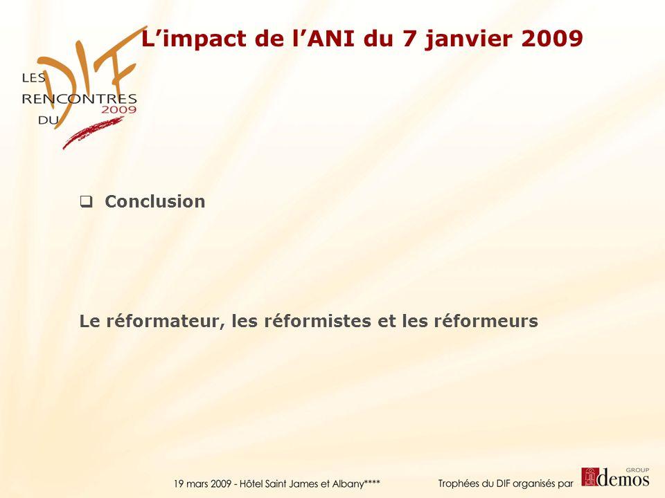 L'impact de l'ANI du 7 janvier 2009