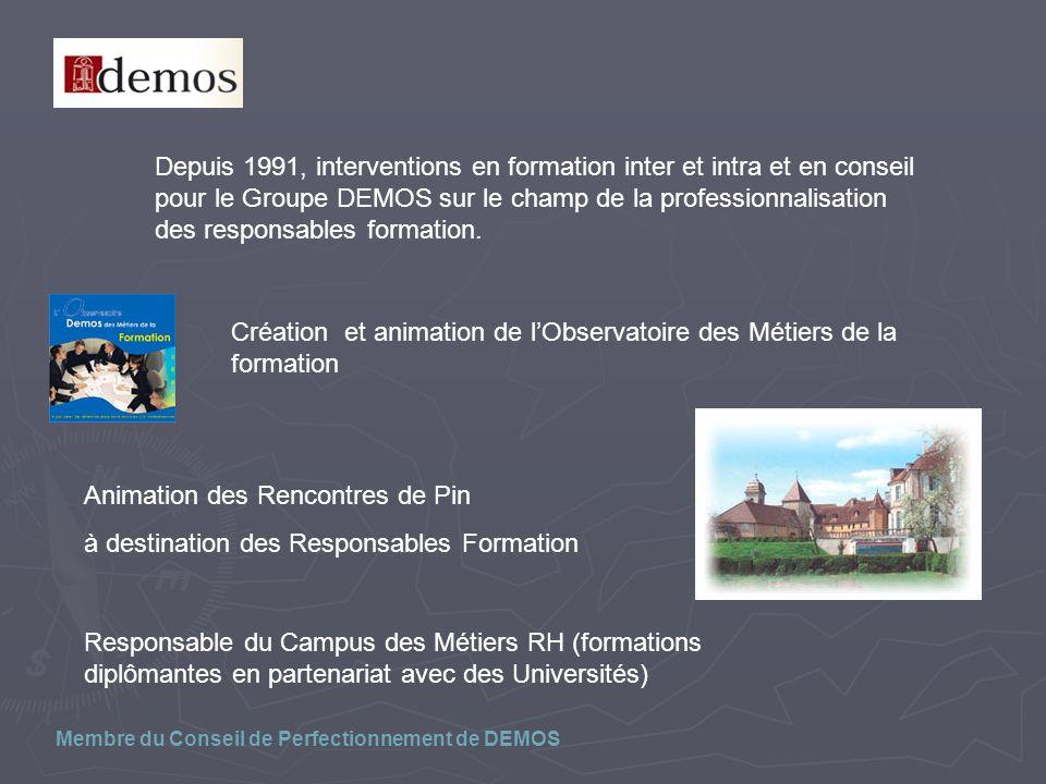 Création et animation de l'Observatoire des Métiers de la formation