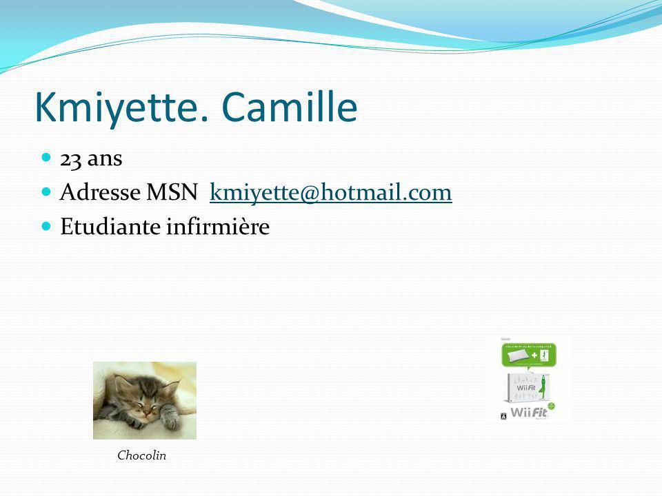 Kmiyette. Camille 23 ans Adresse MSN kmiyette@hotmail.com