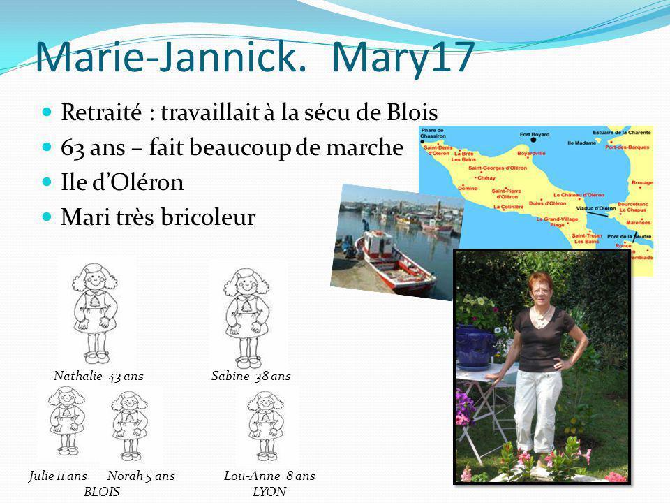 Marie-Jannick. Mary17 Retraité : travaillait à la sécu de Blois