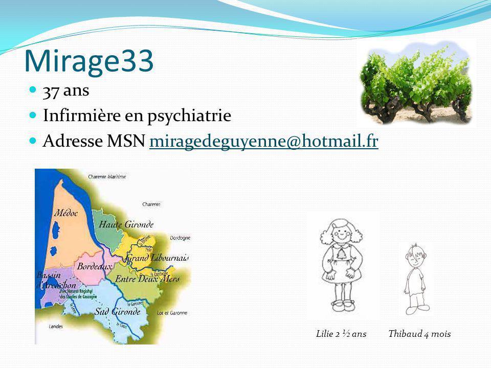 Mirage33 37 ans Infirmière en psychiatrie