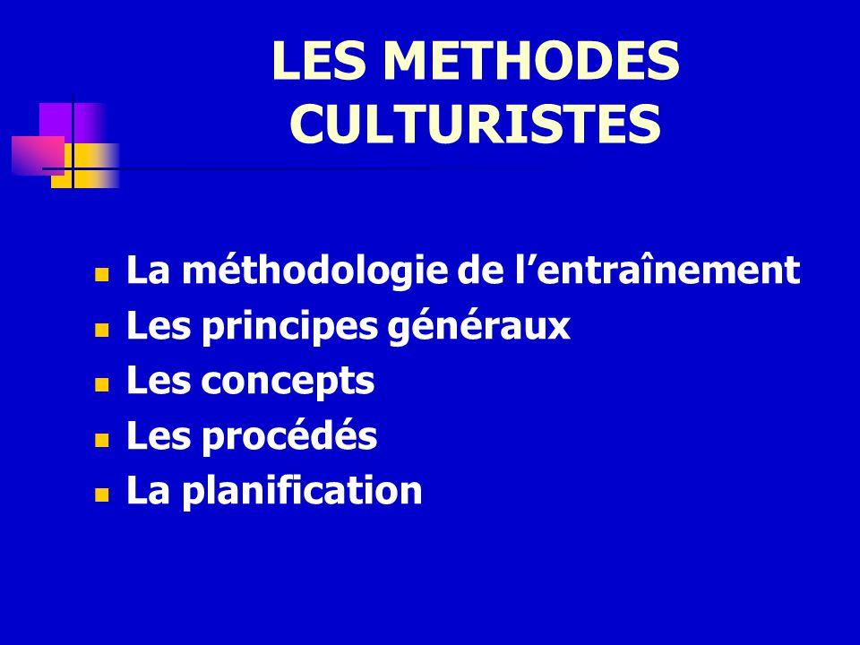 LES METHODES CULTURISTES