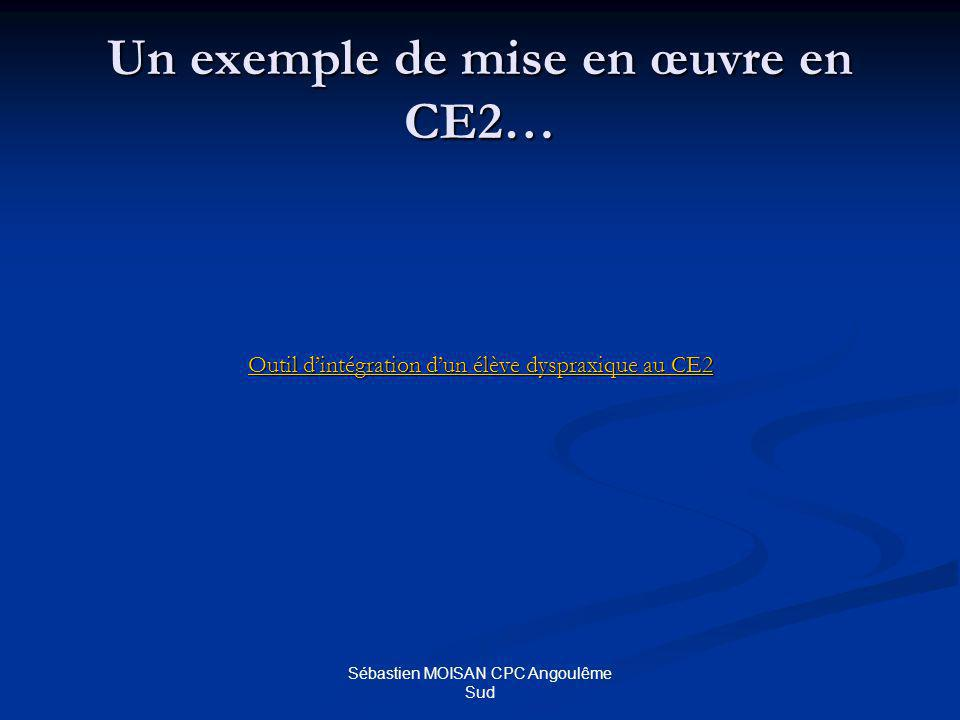 Un exemple de mise en œuvre en CE2…