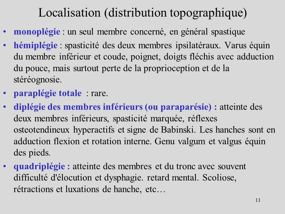 Localisation (distribution topographique)