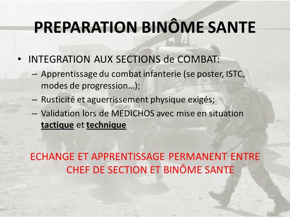 PREPARATION BINÔME SANTE