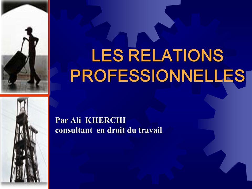 LES RELATIONS PROFESSIONNELLES