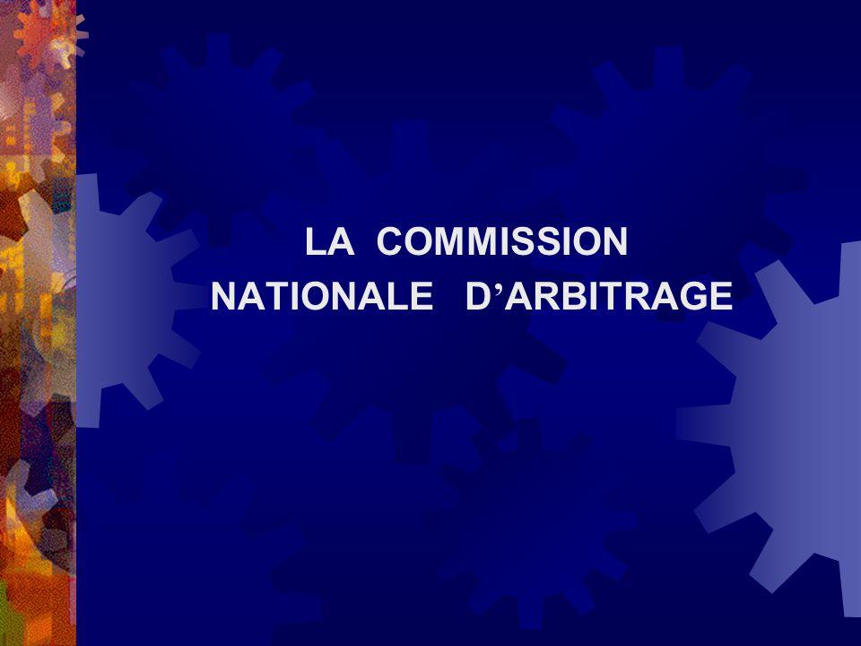 NATIONALE D'ARBITRAGE
