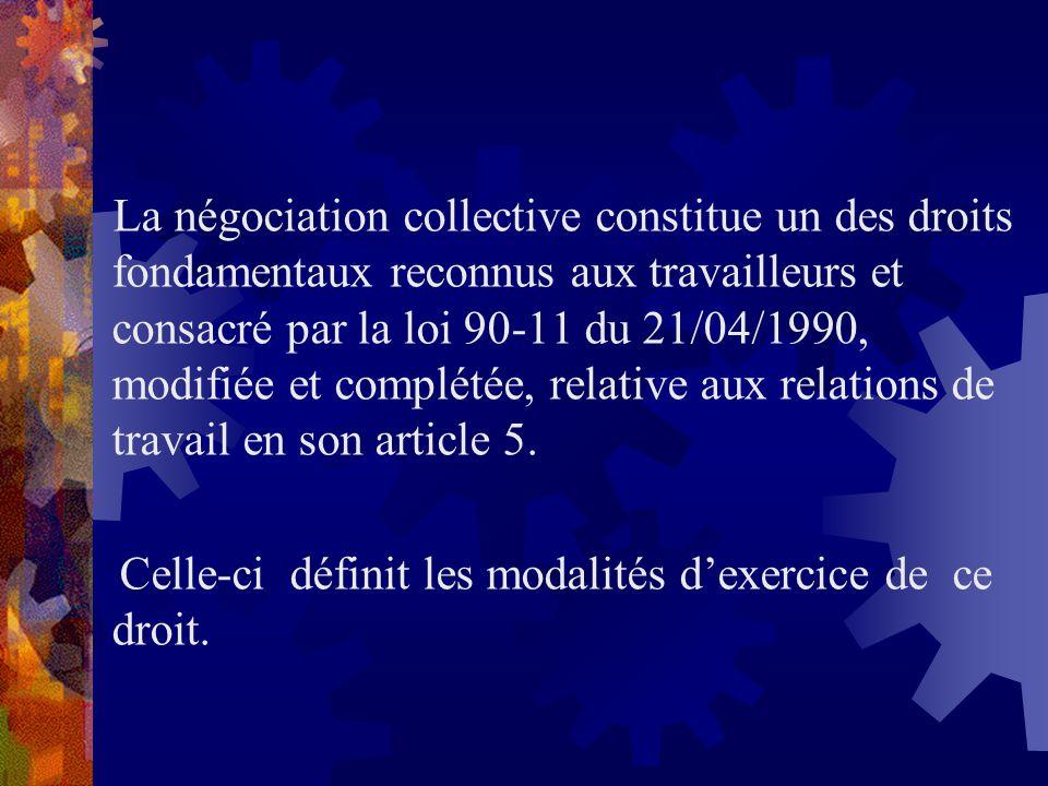 Celle-ci définit les modalités d'exercice de ce droit.