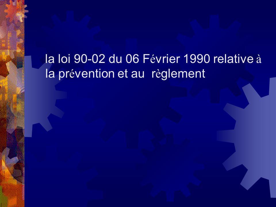 la loi 90-02 du 06 Février 1990 relative à la prévention et au règlement