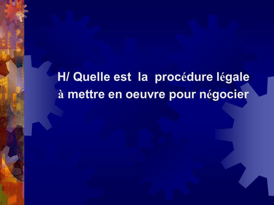 H/ Quelle est la procédure légale