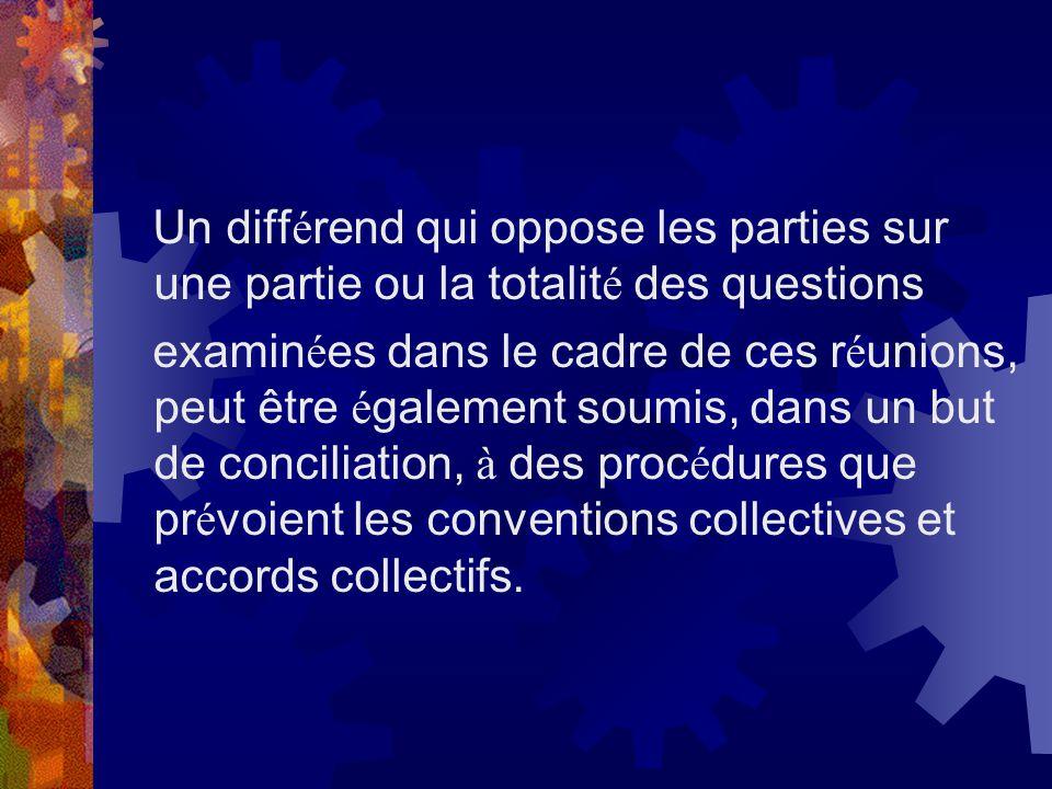 Un différend qui oppose les parties sur une partie ou la totalité des questions