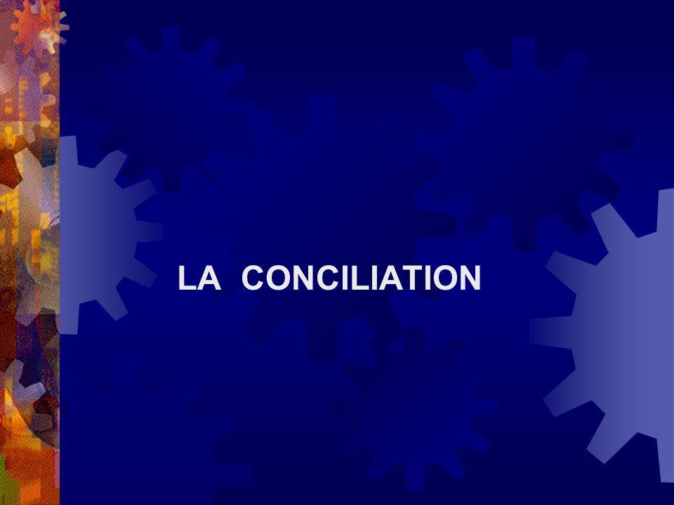 LA CONCILIATION