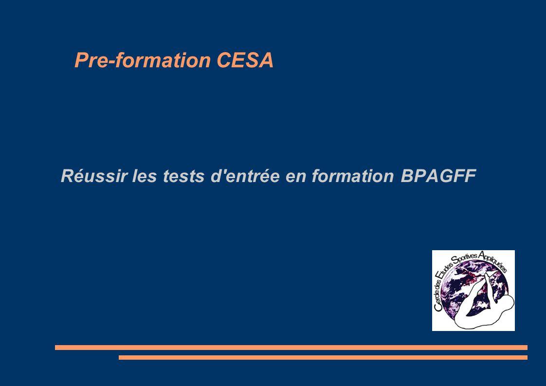 r u00e9ussir les tests d u0026 39 entr u00e9e en formation bpagff
