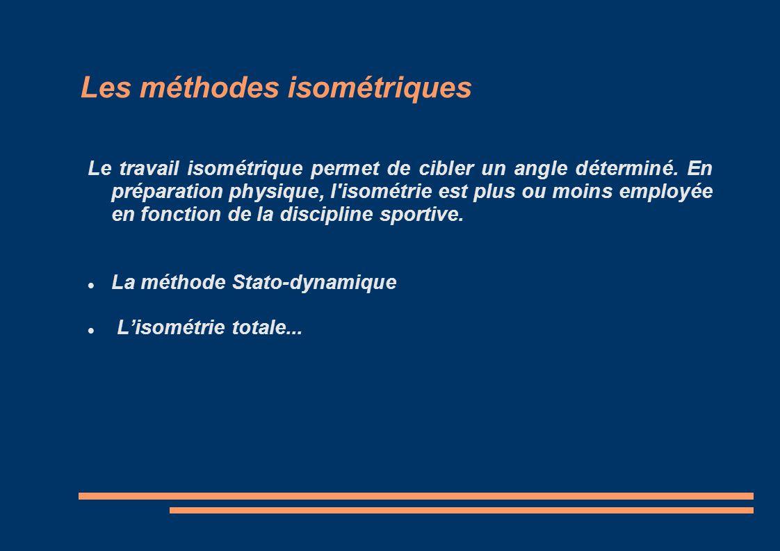 Les méthodes isométriques