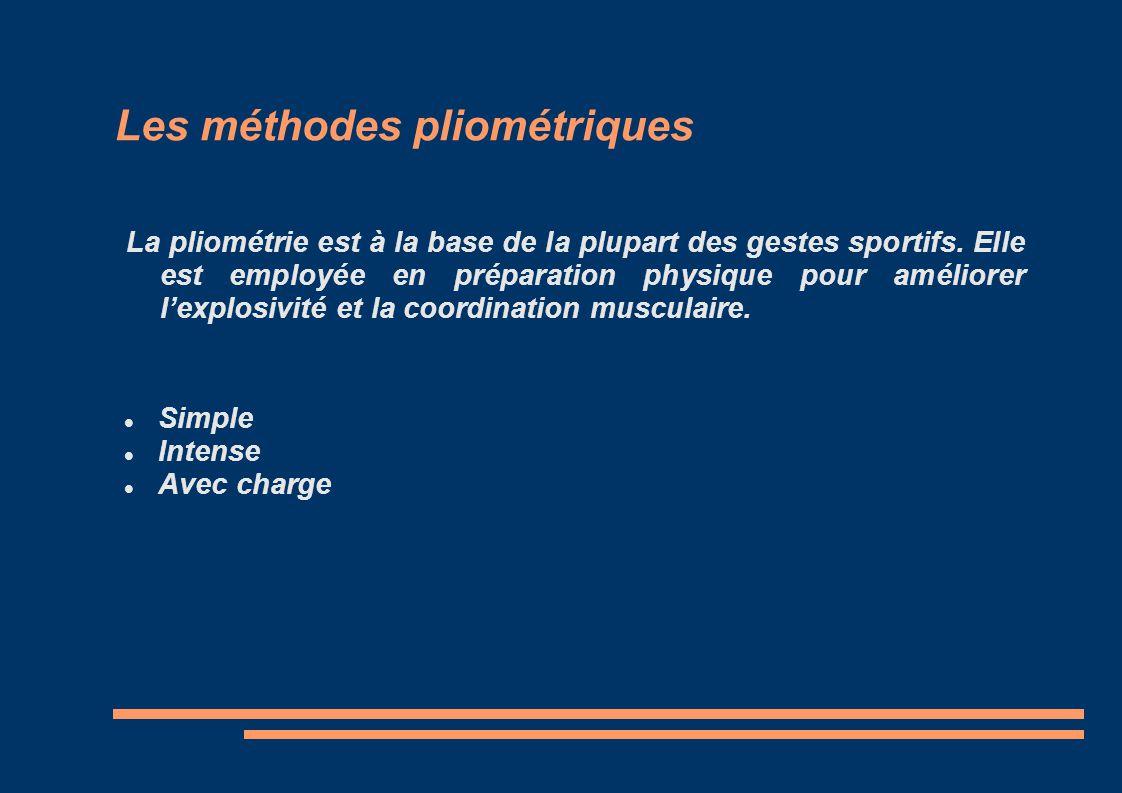Les méthodes pliométriques