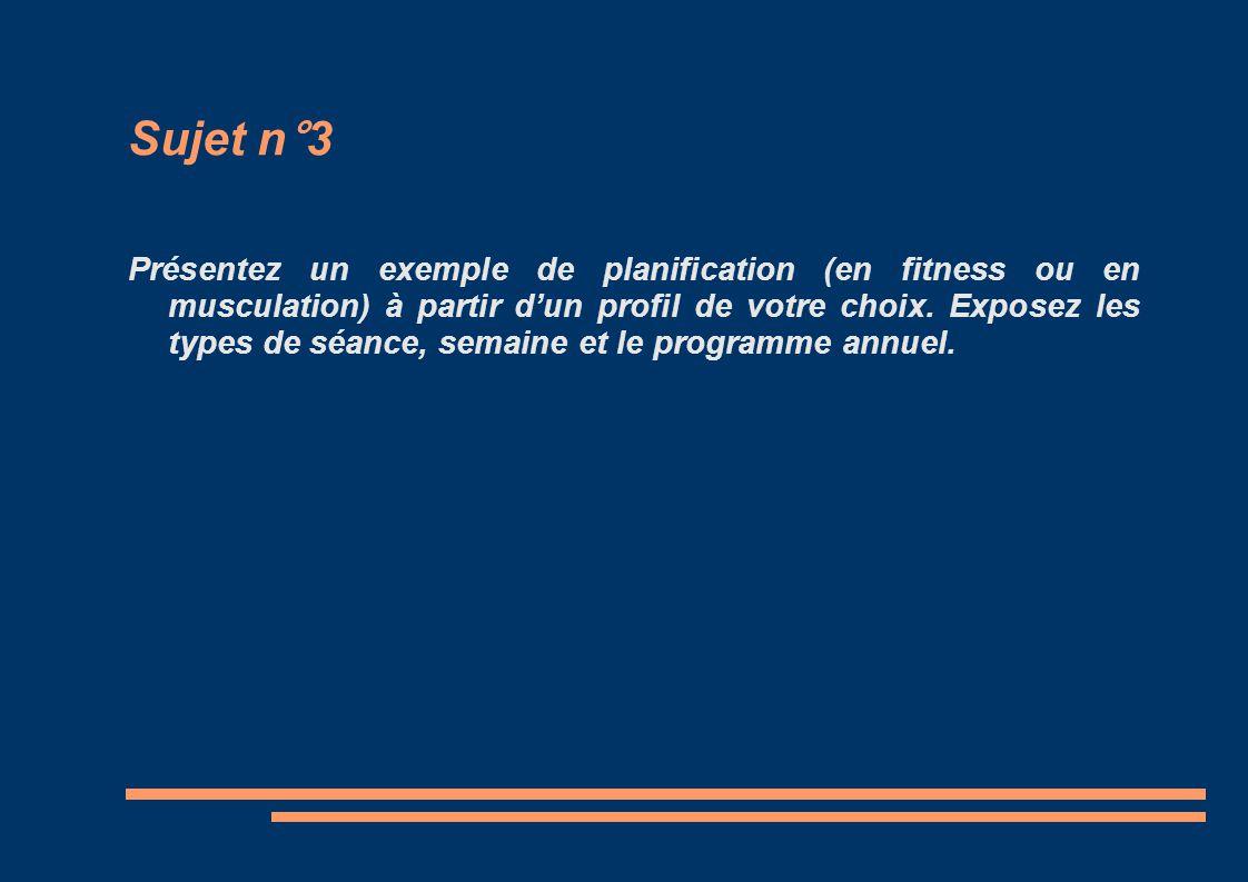Sujet n°3