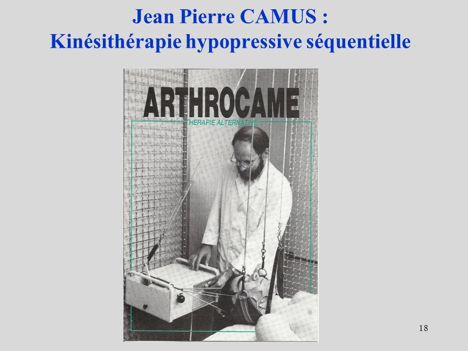 Jean Pierre CAMUS : Kinésithérapie hypopressive séquentielle