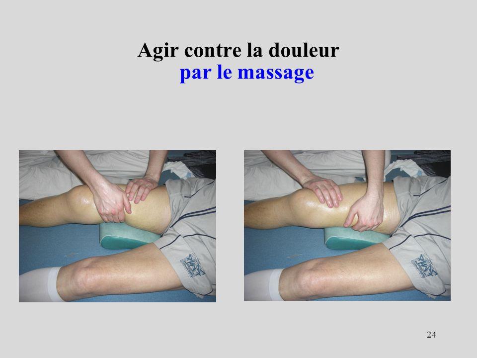 Agir contre la douleur par le massage