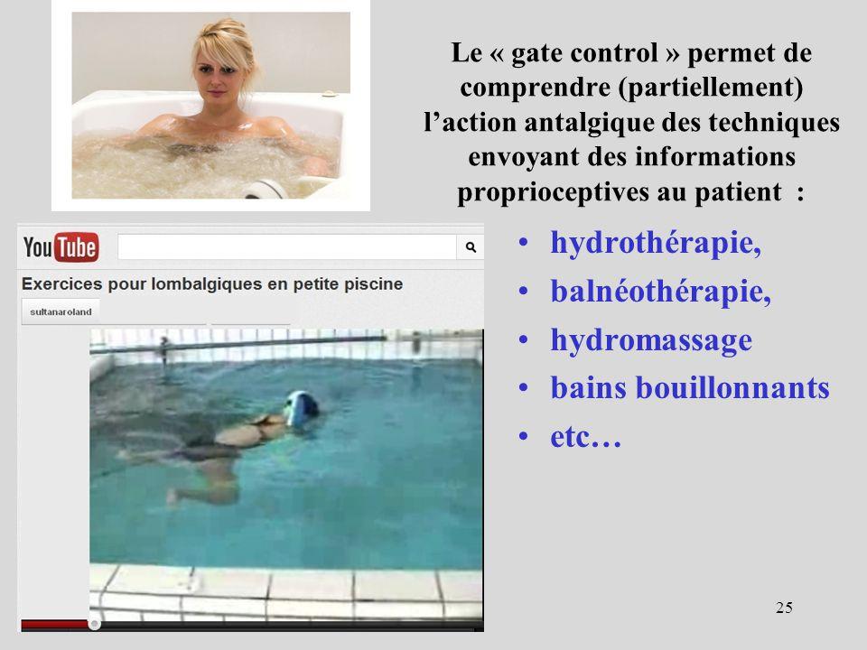hydrothérapie, balnéothérapie, hydromassage bains bouillonnants etc…