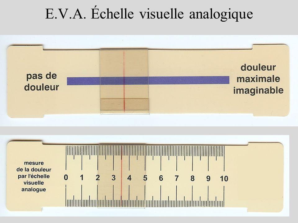 E.V.A. Échelle visuelle analogique