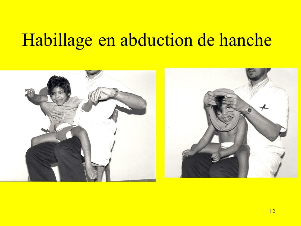 Habillage en abduction de hanche