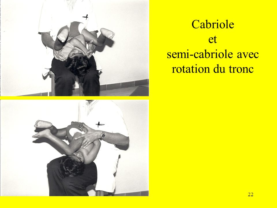 Cabriole et semi-cabriole avec rotation du tronc