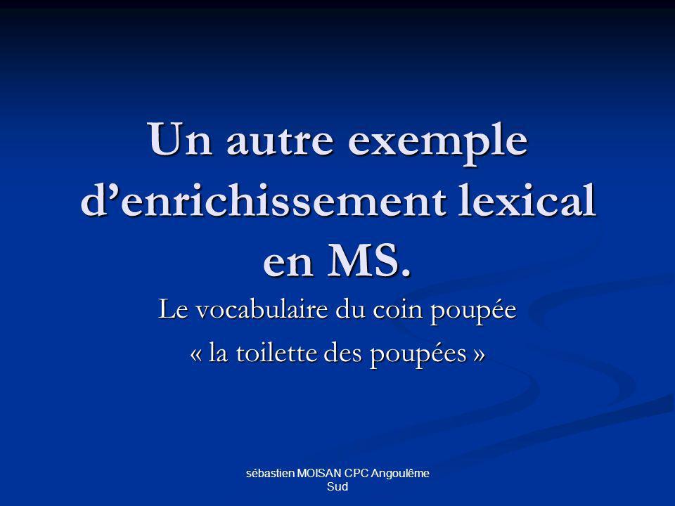 Un autre exemple d'enrichissement lexical en MS.