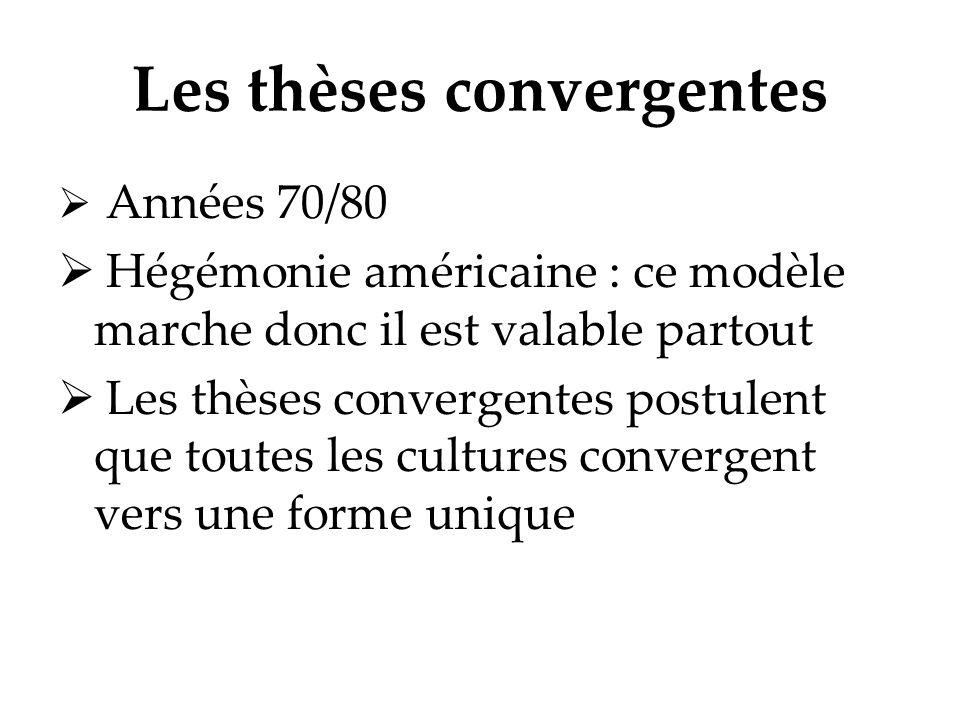 Les thèses convergentes