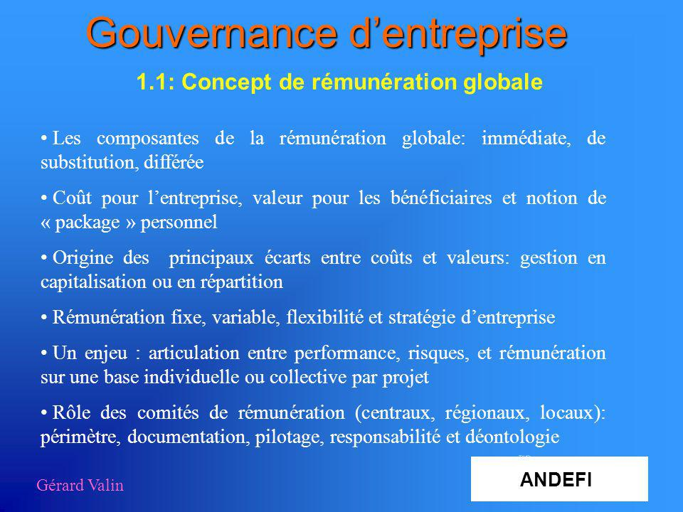 Gouvernance d'entreprise
