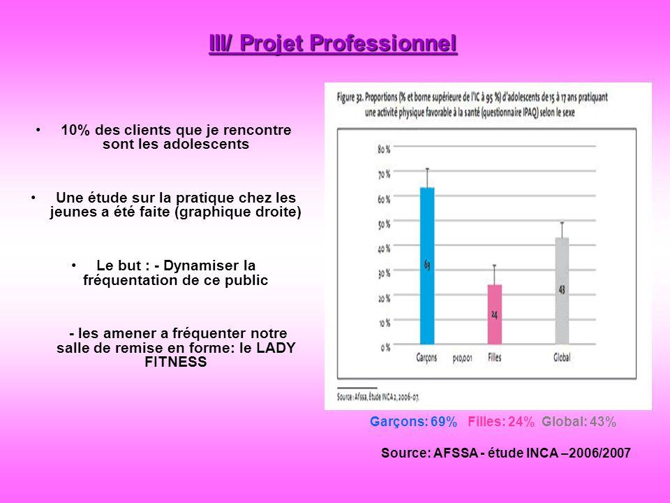 III/ Projet Professionnel